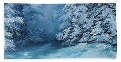 The Blue Forest Beach Towel