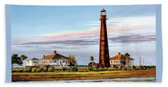 The Bolivar Lighthouse Beach Towel