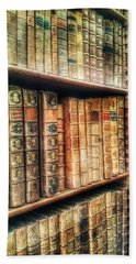 The Bookcase Beach Towel by Isabella F Abbie Shores FRSA