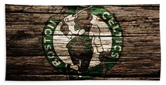 The Boston Celtics 6f Beach Towel by Brian Reaves