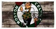 The Boston Celtics W10 Beach Towel by Brian Reaves