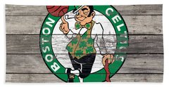 The Boston Celtics W8 Beach Towel by Brian Reaves