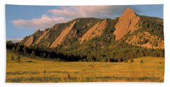 The Boulder Flatirons Beach Towel