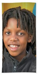 The Boy Who Wore Dreads Beach Towel by Angela J Wright