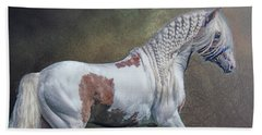 Beach Towel featuring the photograph The Braided Gypsy by Brian Tarr