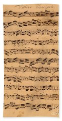 The Brandenburger Concertos Beach Towel by Johann Sebastian Bach