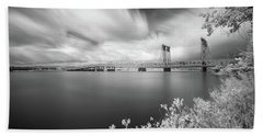 The Bridge Crosses Columbia River Beach Towel