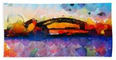The Bridge I Will Cross Beach Towel by Sir Josef - Social Critic - ART