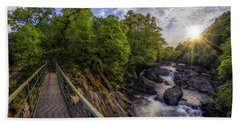 The Bridge To Summer Beach Towel by Ian Mitchell