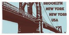 The Brooklyn Bridge, New York, Ny Beach Towel