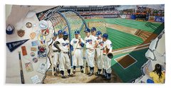 The Brooklyn Dodgers In Ebbets Field Beach Towel