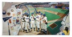 The Brooklyn Dodgers In Ebbets Field Beach Sheet