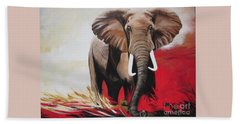Bumper The  Bull Elephant  Beach Towel