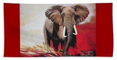 The Bull Elephant - Constitution Beach Towel by Sigrid Tune