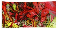 The Burning Bush Encounter Beach Towel by Steve Taylor