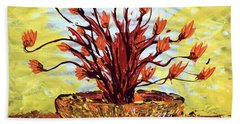 Beach Towel featuring the painting The Burning Bush by J R Seymour