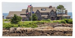 The Bush Compound Kennebunkport Maine Beach Towel by Brian MacLean