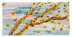 The Butterfly Tree Beach Towel