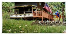 Beach Towel featuring the photograph The Cabin by Ron White