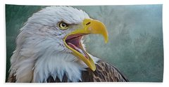 The Call Of The Eagle Beach Towel