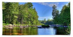 Beach Towel featuring the photograph The Calm Below Buttermilk Falls by David Patterson