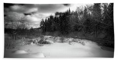 Beach Towel featuring the photograph The Calm Of Winter by David Patterson
