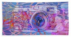 Beach Towel featuring the digital art The Camera - 02c3t by Variance Collections