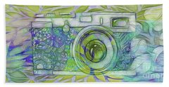 Beach Towel featuring the digital art The Camera - 02c5b by Variance Collections