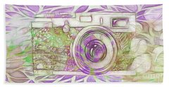 Beach Towel featuring the digital art The Camera - 02c6 by Variance Collections