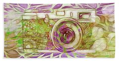 Beach Sheet featuring the digital art The Camera - 02c6t by Variance Collections