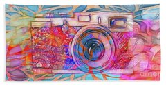 Beach Towel featuring the digital art The Camera - 02v2 by Variance Collections
