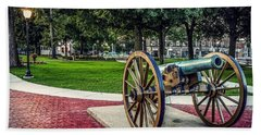 The Cannon In The Park Beach Towel