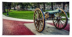 Beach Towel featuring the photograph The Cannon In The Park by Kendall McKernon