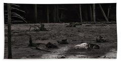 The Canyon Alphas B/w Beach Towel