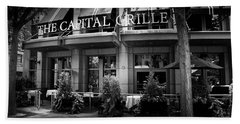 The Capital Grille In Black And White Beach Towel