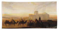 The Caravan Beach Towel by Alexandre Gabriel Decamps