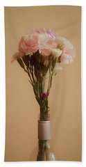 Beach Towel featuring the digital art The Carnations by Ernie Echols