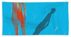 The Cast Shadow Beach Towel by Jim Vance