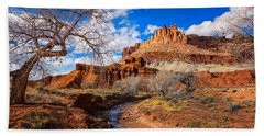 The Castle At Capitol Reef Beach Towel