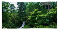 The Castle Tower At Longwood Gardens Beach Towel