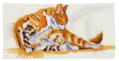 The Cat-ortionist Beach Towel