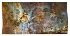 The Central Region Of The Carina Nebula Beach Towel