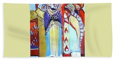 Beach Towel featuring the painting The Chains That Bind Us To Christ by Mindy Newman