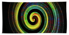 Beach Towel featuring the digital art The Chameleon Snake Skin by Steve Taylor