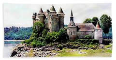 Beach Towel featuring the photograph The Chateau De Val by Joseph Hendrix