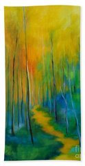 Beach Towel featuring the painting The Chosen Path  by Alison Caltrider