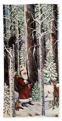 The Christmas Forest Visitor Beach Towel