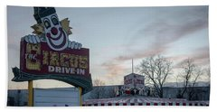 Beach Sheet featuring the photograph The Circus Drive In Wall Township Nj by Terry DeLuco