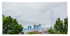 Beach Towel featuring the photograph The City Beyond by Shelby Young