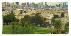 The City From Dolores Park Beach Sheet